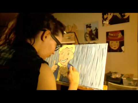 Fallout Vault Boy Time Lapse Painting L.A. Dream Designs