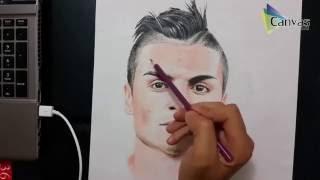 رسمت اللاعب العراقي احمد ياسين بالوان الخشب Faber Castell time lapse drawing