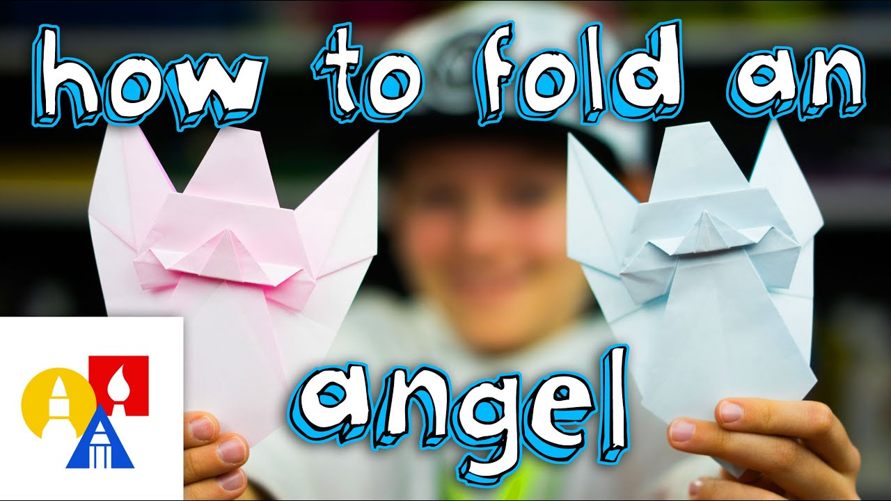 how to fold an origami angel youtube