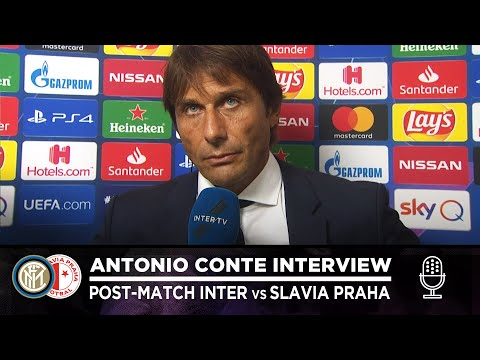 "INTER 1-1 SLAVIA PRAHA | ANTONIO CONTE INTERVIEW: ""I'm not satisfied with the performance"" [SUB ENG]"