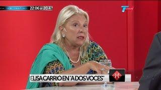 "E.Carrió en ""A dos voces"", de M.Bonelli y E.Alfano - 02/03/16"