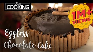 Eggless Chocolate Cake in Pressure Cooker  Christmas Special