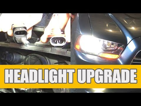 How to Replace | Install 2011-14 Dodge Charger Headlights – Low Beam?