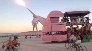 charlie the unicorn art car burning man 2014