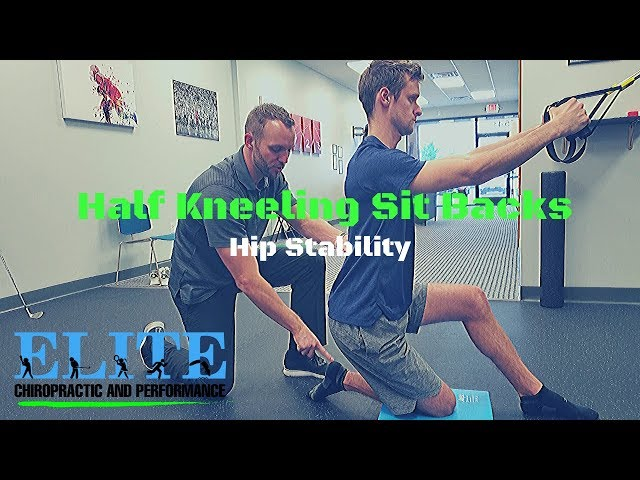 Half Kneeling Sit Backs | Hip Stability