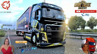 Euro Truck Simulator 2 (1.40)   Volvo FH 2012 by RPIE and Volvo D13K Stock Sound Delivery in Sweden DLC Scandinavia by SCS Trailer Tuning Pack v1.8.3 by SGdesign Animated gates in companies v3.7 [Schumi] Real Company Logo v1.0 [Schumi] Company addon v1.9 [Schumi] Trailers and Cargo Pack by Jazzycat Motorcycle Traffic Pack by Jazzycat FMOD ON and Open Windows Naturalux Graphics and Weather Spring Graphics/Weather v3.6 (1.38) by Grimes Test Gameplay ITA Europe Reskin v1.0 + DLC's & Mods  For Donation and Support my Channel https://paypal.me/isabellavanelli?loc??...  SCS Software News Iberian Peninsula Spain and Portugal Map DLC Planner...2020 https://www.youtube.com/watch?v=NtKeP??... Euro Truck Simulator 2 Iveco S-Way 2020 https://www.youtube.com/watch?v=980Xd??... Euro Truck Simulator 2 MAN TGX 2020 v0.5 by HBB Store https://www.youtube.com/watch?v=HTd79??...  All my mods I use in the video Promods map v2.51 https://www.promods.net/setup.php?? Traffic mods by Jazzycat https://sharemods.com/hh8z6h9ym82b/pa??... https://sharemods.com/lpqs4mjuw3h6/ai??... https://ets2.lt/en/painted-bdf-traffi??... https://sharemods.com/eehcavh87tz9/bu??... Graphics mods https://download.nlmod.net/?? https://grimesmods.wordpress.com/2017??... Europe Reskin https://forum.scssoft.com/viewtopic.p??... Trailers pack https://ets2.lt/en/trailers-and-cargo??... https://tzexpress.cz/?? Others mods Company addon v1.8 [Schumi] https://forum.scssoft.com/viewtopic.p??... Real Company Logo v1.3 [Schumi] https://forum.scssoft.com/viewtopic.p??... Animated gates in companies v3.8 [Schumi https://forum.scssoft.com/viewtopic.p??...  #TruckAtHome?? #covid19italia?? Euro Truck Simulator 2    Road to the Black Sea (DLC)    Beyond the Baltic Sea (DLC)   Vive la France (DLC)    Scandinavia (DLC)    Bella Italia (DLC)   Special Transport (DLC)   Cargo Bundle (DLC)   Vive la France (DLC)    Bella Italia (DLC)    Baltic Sea (DLC) Iberia (DLC)   American Truck Simulator New Mexico (DLC) Oregon (DLC) Washington (