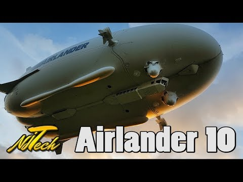 Hybrid Air Vehicles - Airlander 10 practising approaches!