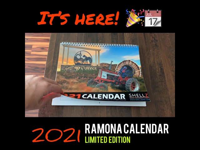 2021 RAMONA CALENDAR AVAILABLE FOR PRE-ORDER