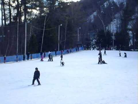 nisha riya skiing
