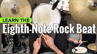 Eighth-Note Rock Beat - Beginner Drum Lesson