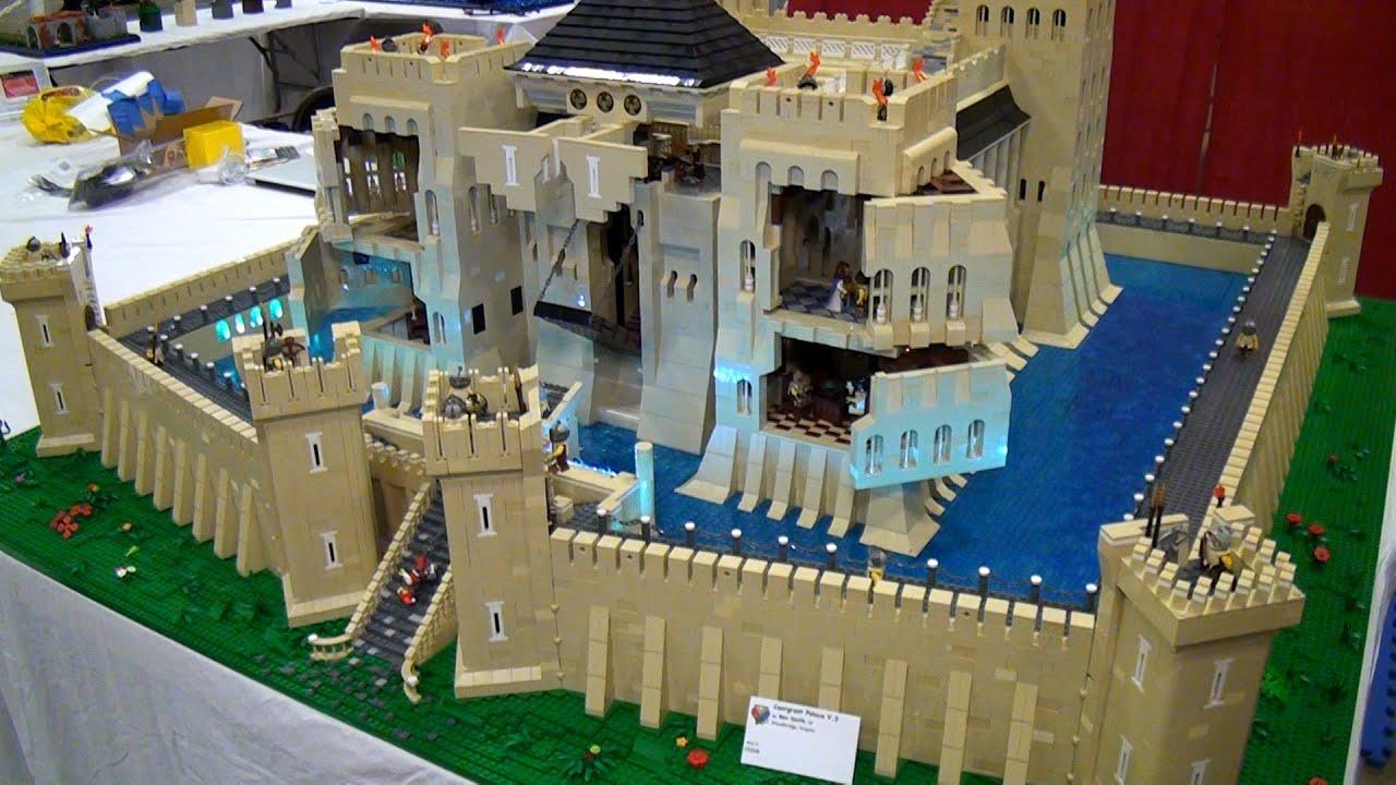 lego caergrant palace giant castle brickfair virginia 2015 youtube