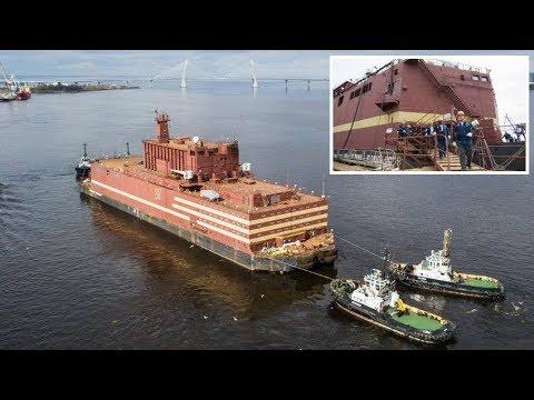 'Akademik Lomonosov' shipborn is World's first floating nuclear power plant sets sail in Russia