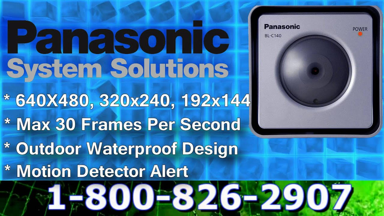 Panasonic BL-C140A Network Camera Driver UPDATE