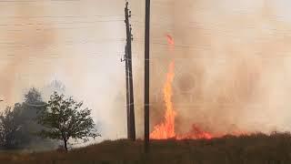 Огненный смерч в Новоорском районе