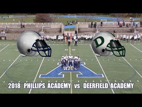 2018 Phillips Academy Andover Football vs Deerfield