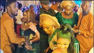 Mide Martins Rock, Twerk For Her Husband As Seyi Edun Dance With Her Husband At Yetunde' Wedding