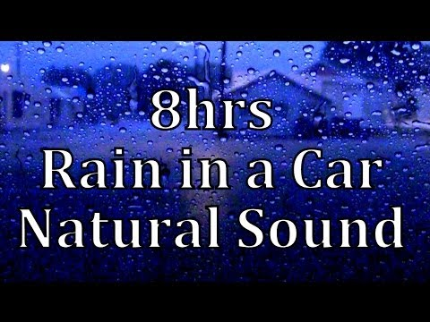 "8hrs Rain in a Car  ""Sleep Sounds"""