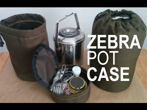 Zebra Loop Handle Pot Cases Billy Can
