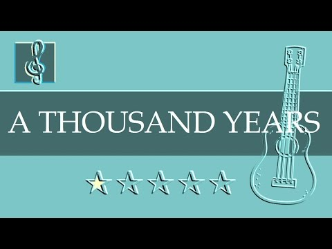 Ukulele TAB  A Thousand Years  Christina Perri Sheet music