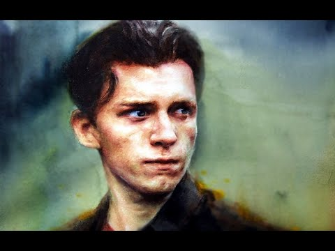 watercolor-portrait-painting-spiderman-tom-holland-마블-스파이더맨(톰-홀랜드)-그리기