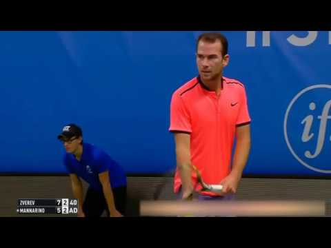 Alexander Zverev vs Adrian Mannarino Highlights Stockholm 2016