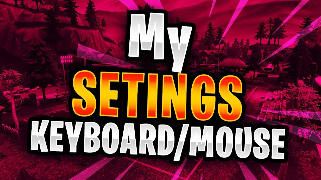My Fortnite Mouse And Keyboard Ps4 Settings No Input Lag Youtube