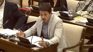 Segundo González en la Comisión de Hacienda y Función Pública el 13 de Noviembre