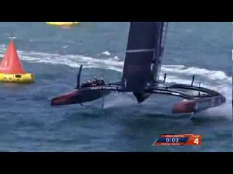 Oracle team win America's Cup Final race in San Francisco, USA
