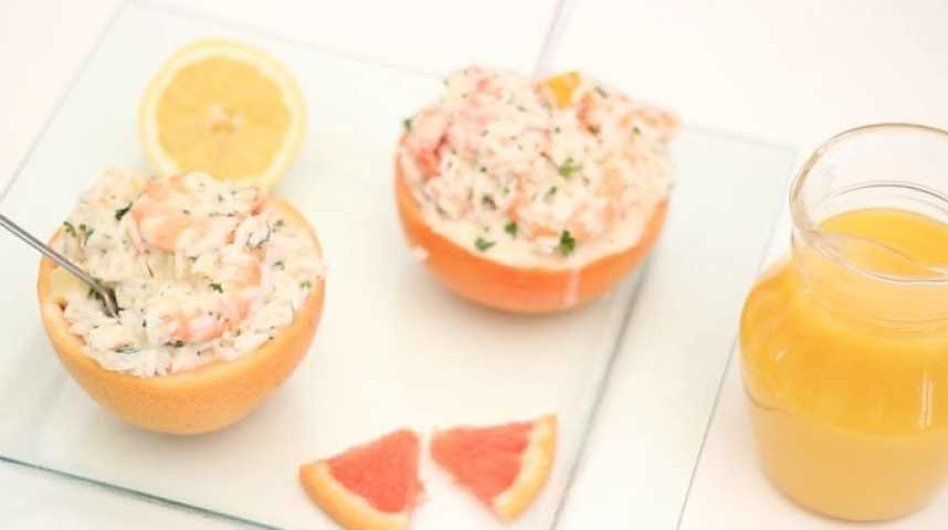 salade de riz crevettes fromage et pamplemousse youtube. Black Bedroom Furniture Sets. Home Design Ideas