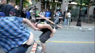 TAUNTING POLICE AT THE 2011 VANCOUVER STANLEY CUP RIOT!!!