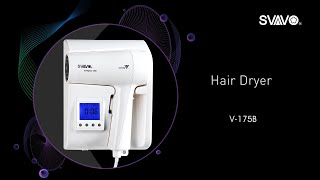 Best quality ABS low noise wall mounted hotel bathroom hair dryer V-175B white