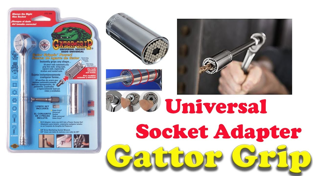 Gator Grip Universal Socket Adapter How Its Works Best Power Tool Youtube
