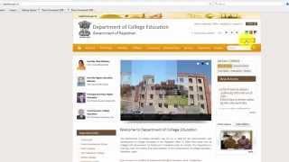 DCE Rajasthan Onine Admission 2015-2016
