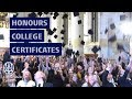 Honours College students receive their certificates