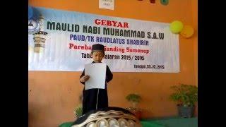 puisi TK Maulid Nabi Muhammad SAW. Ahmad Alfin Khoir 20 des 2015