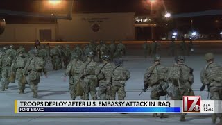 Troops deploy from Fort Bragg following attack on US Embassy in Iraq