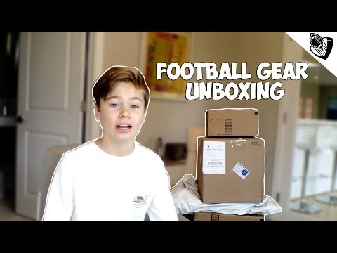 Massive Kids Football Gear Unboxing!