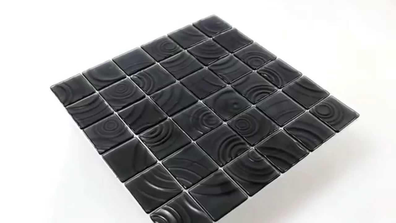 Mosaikfliesen kreiseleffekt küchenspiegel schwarz   youtube