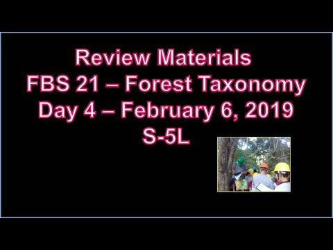fbs-21---forest-taxonomy-2nd-sem-2018-2019-notes-|-day-4--february-6,-2019---wednesday