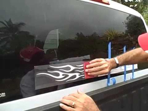 Как клеить виниловые наклейки на авто