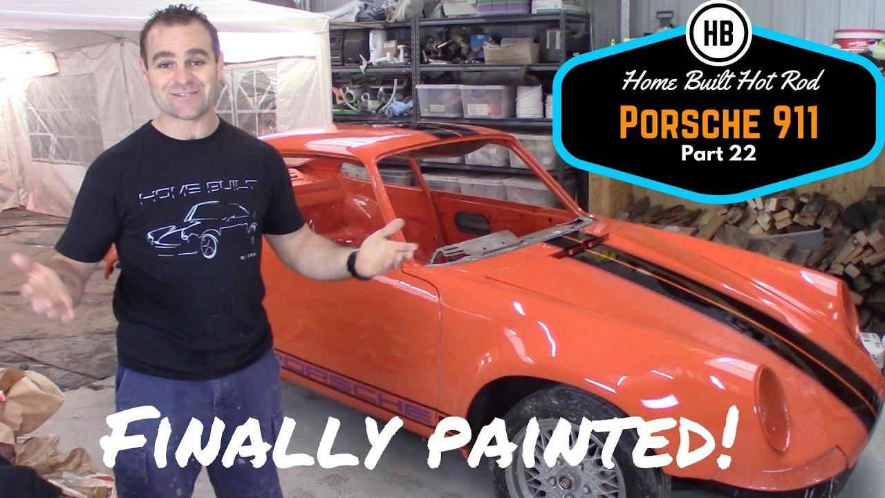 Finally Painted Porsche 911 Classic Car Build Part 22 Home Built By Jeff