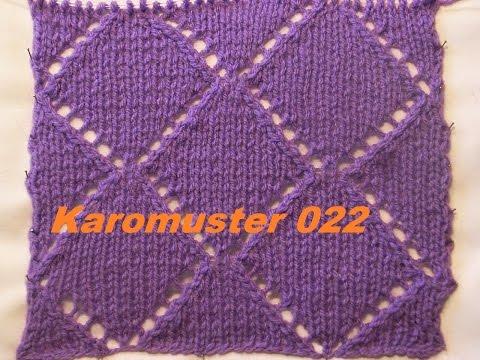 Karomuster*Ajourmuster 022*Muster Stricken*Muster Für Pullover*Mütze*Tutorial Handarbeit Kreativ