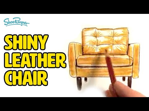 How To Trace Amp Colour A Shiny Leather Chair Youtube
