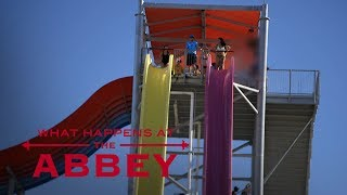 Elizabeth's Waterslide Ride Ends in Bikini Disaster | What Happens at the Abbey | E!