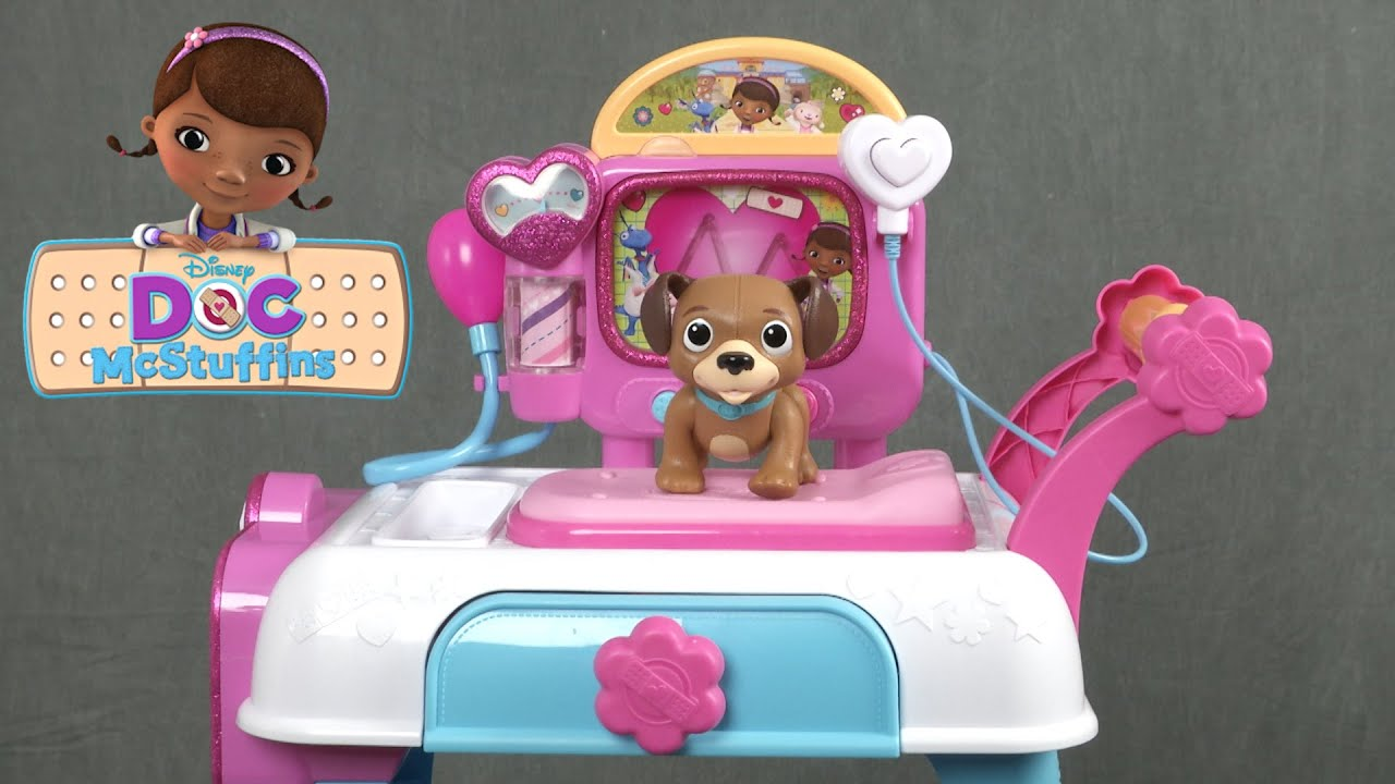 Doc Mcstuffins Toy Hospital Care Cart From Just Play Youtube