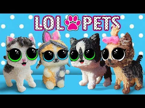 PETS LOL! DOLL CAT BABY AND CAT MURKA! LOL SURPRISE PETS and 3D PEN! TOYS