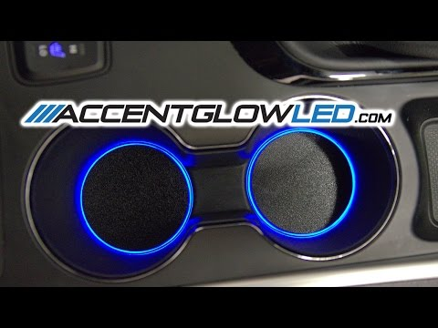Hyundai Sonata LED Cup Holder Light DIY Install Kit 2011 2014