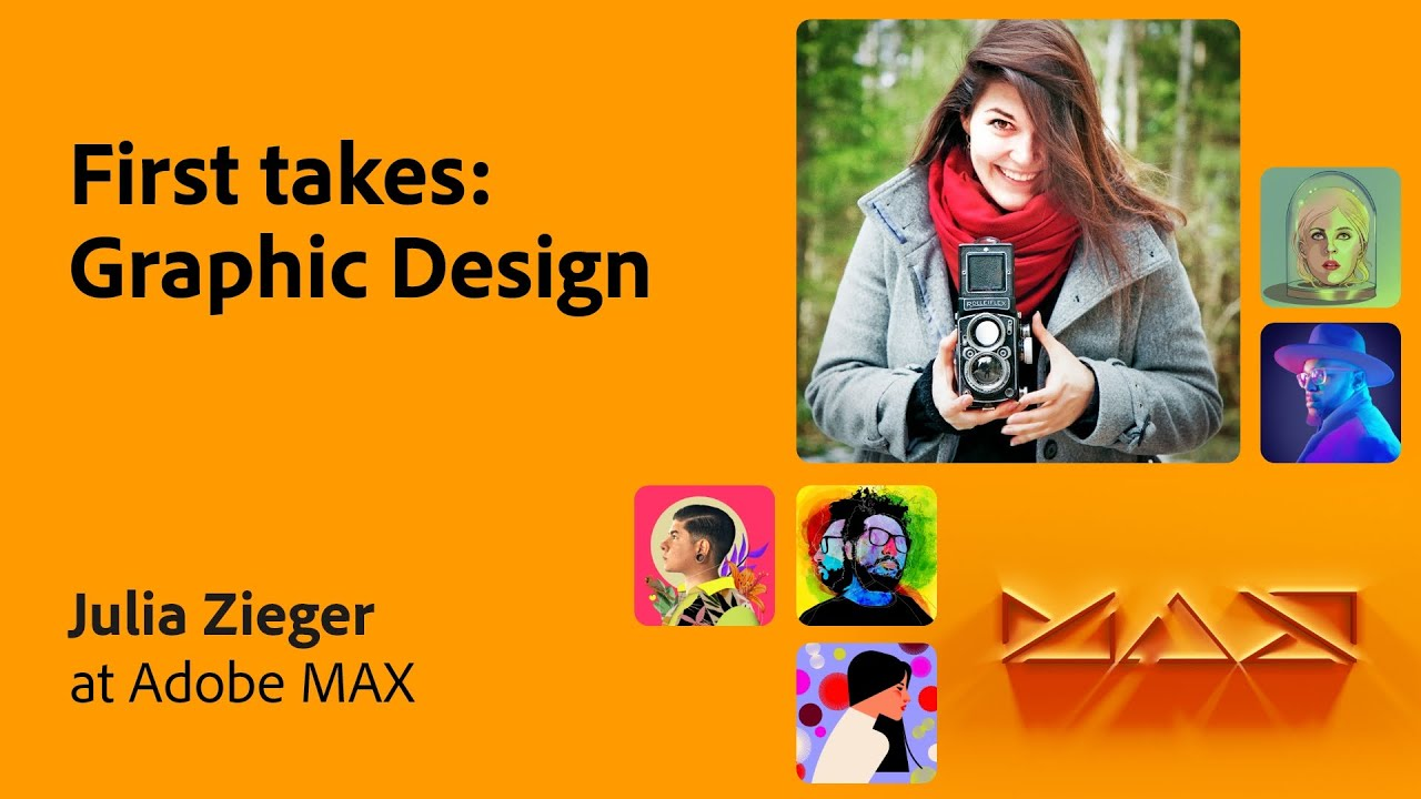 First Takes from the Community: Graphic Design with Julia Zieger   Adobe Live