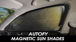 Autofy Magnetic Mesh Fabric Window Shades with Zipper for All Cars:  Installation and Utility Guide