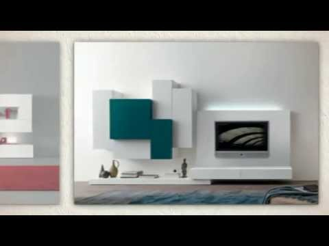 Modern Wall Units & Italian Home Theater Entertainment Cente - YouTube